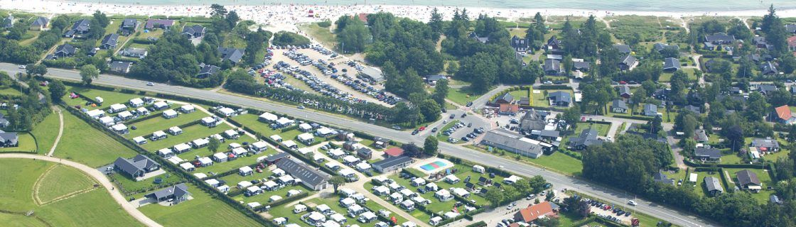 AT Luftfoto nummer 4 Saksild Strand Camping